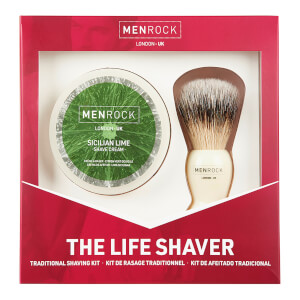 Men Rock The Life Shaver (Sicilian Lime Shave Cream, The Brush) krem do golenia z limonką sycylijską, pędzel do golenia