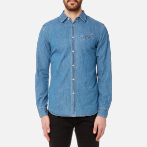 Diesel Men's Berry Denim Shirt - Blue