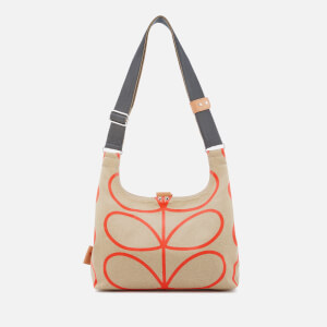 Orla Kiely Women's Matt Laminated Giant Linear Stem Mini Sling Bag - Stone