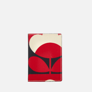 Orla Kiely Women's Spring Bloom Vinyl Passport Cover - Ruby