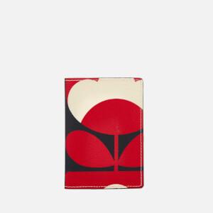 Orla Kiely Women's Spring Bloom Vinyl Passport Cover - Ruby