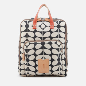 Orla Kiely Women's Sixties Stem Nylon Large Rucksack - Charcoal Blue