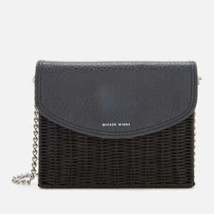 Wicker Wings Women's Kuang Wicker Bag - Navy/Black