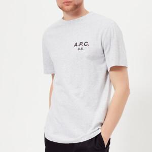 A.P.C. Men's Flag T-Shirt - Gris Chine