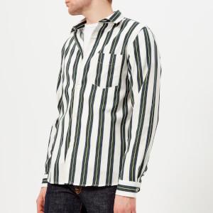 A.P.C. Men's Chemise Alexis Long Sleeve Stripe Shirt - Blanc Casse