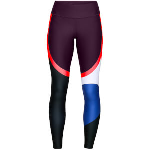 Under Armour Women's Vanish Chop Block Engineered Leggings - Purple/Black