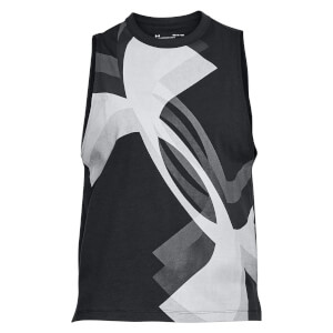 Under Armour Women's Muscle Overlay Logo Tank Top - Black