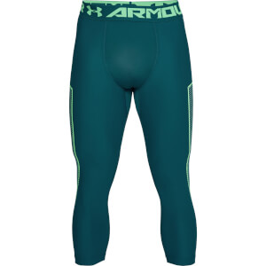 Under Armour Men's HG Armour Graphic 3/4 Leggings - Green