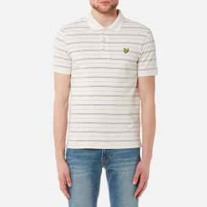 Lyle & Scott Men's Pick Stitch Polo Shirt - Oatmeal Marl