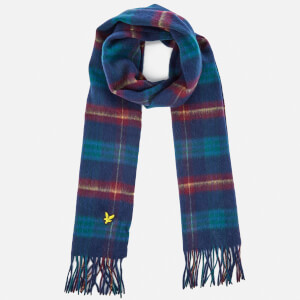 Lyle & Scott Men's Woven Tartan Scarf - New Navy
