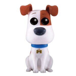 Secret Life of Pets Flocked Max EXC Pop! Vinyl Figure