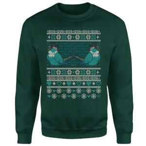 Jaiden Ari Festive Forest Green Sweatshirt