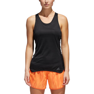 adidas Women's Response Cup Running Tank Top - Black/Grey