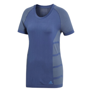 adidas Women's Ultra Light Running T-Shirt - Indigo/Steel