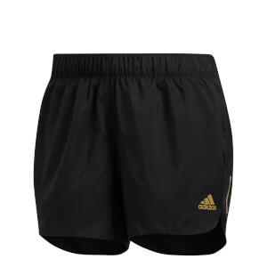 adidas Women's Response Running Shorts - Black/Gold