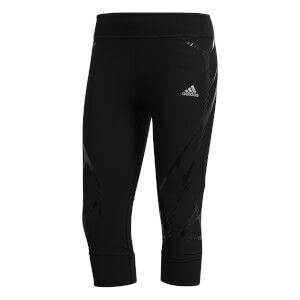 adidas Women's Adizero SW 3/4 Running Tights - Black