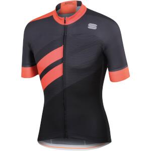 Sportful BodyFit Team Jersey - Black/Coral Fluo