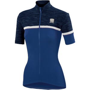 Sportful Women's Giara Jersey - Blue Twilight/White