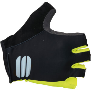 Sportful Women's Diva Gloves - Black/Yellow Fluo
