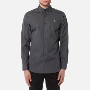 Vivienne Westwood MAN Men's Firm Poplin Krall Shirt - Charcoal