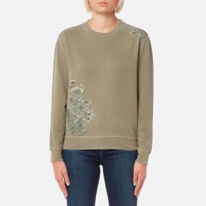 Barbour Heritage Women's Fern Crew Neck Sweatshirt - Bleached Olive