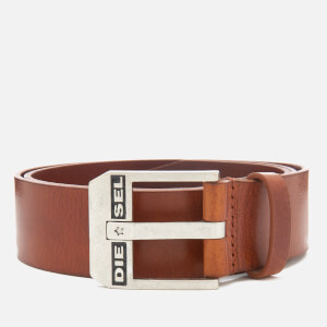 Diesel Men's Bluestar Leather Belt - Lion