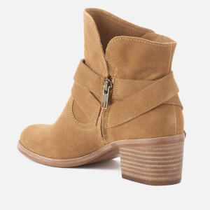UGG Women's Elora Suede Heeled Ankle Boots - Chestnut: Image 2