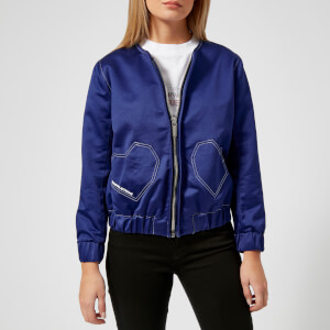 Maison Kitsuné Women's Heart Teddy Jacket - Royal Blue