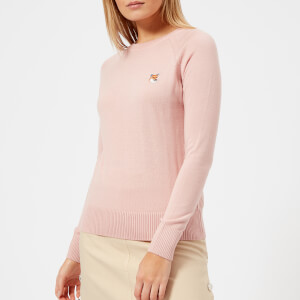 Maison Kitsuné Women's Fox Patch Merino Jumper - Pink