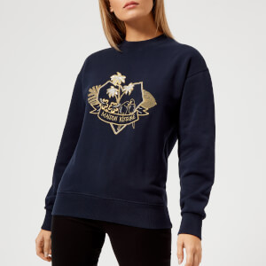 Maison Kitsuné Women's Love Blazon Sweatshirt - Navy
