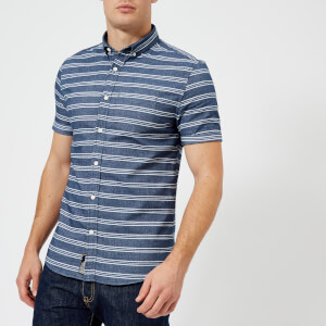 Superdry Men's Academy Sails Bd Short Sleeve Shirt - Vias Stripe