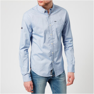 Superdry Men's Ultimate Pinpoint Oxford Button Down Long Sleeve Shirt - Sunset