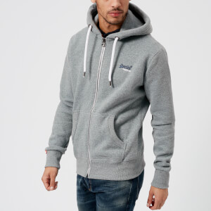 Superdry Men's Orange Label Zip Hoody - Hazy Heather Blue