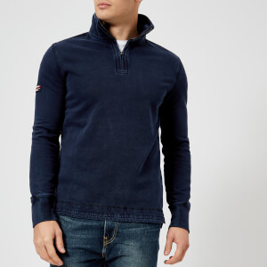 Superdry Men's International Henley Top - Darkest Navy