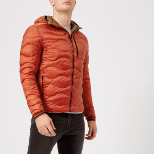 Superdry Men's Wave Quilt Hooded Jacket - Orange