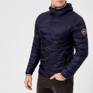Superdry Men's Wave Quilt Hooded Jacket - Navy
