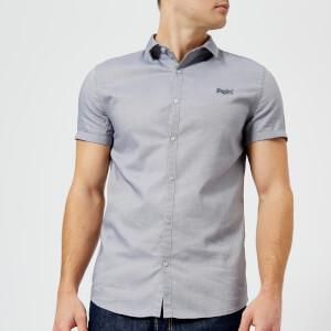 Superdry Men's Royal Oxford Slim Short Sleeve Shirt - Royal Slate