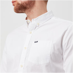 Superdry Men's Ultimate Pinpoint Oxford Button Down Long Sleeve Shirt - Optic White