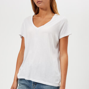 J Brand Women's Janis V Neck T-Shirt - White