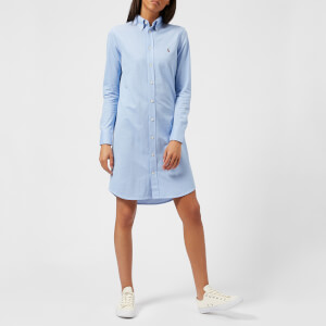Polo Ralph Lauren Women's Oxford Shirt Dress - Blue