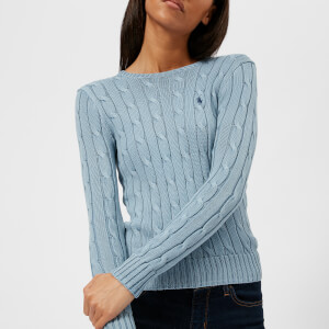 Polo Ralph Lauren Women's Julianna Crew Neck Jumper - Chambray Blue