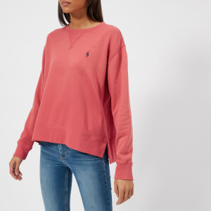 Polo Ralph Lauren Women's Logo Sweatshirt - Sun Red