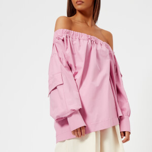 MSGM Women's Off-the-Shoulder Oversized Top - Pink