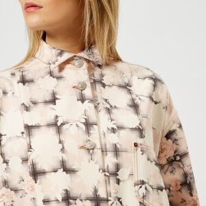 MM6 Maison Margiela Women's Open Wave Printed Bull Jacket - Light Rose/Plaid Print: Image 4