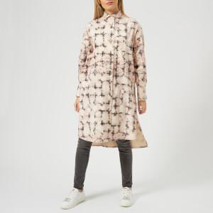 MM6 Maison Margiela Women's Open Wave Printed Bull Jacket - Light Rose/Plaid Print: Image 3