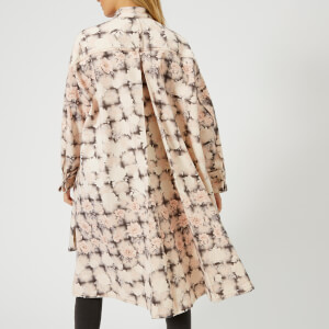MM6 Maison Margiela Women's Open Wave Printed Bull Jacket - Light Rose/Plaid Print: Image 2