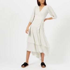 Ganni Women's Wilkie Seersucker Dress - Vanilla Ice