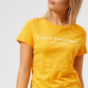 Calvin Klein Women's Logo T-Shirt - Spectra Yellow