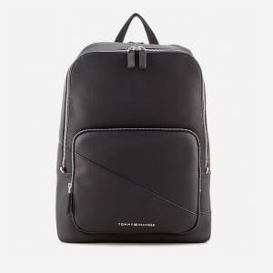 Tommy Hilfiger Men's TH Diagonal Backpack - Black