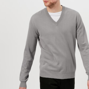Maison Margiela Men's Elbow Patch V Neck Jumper - Grey